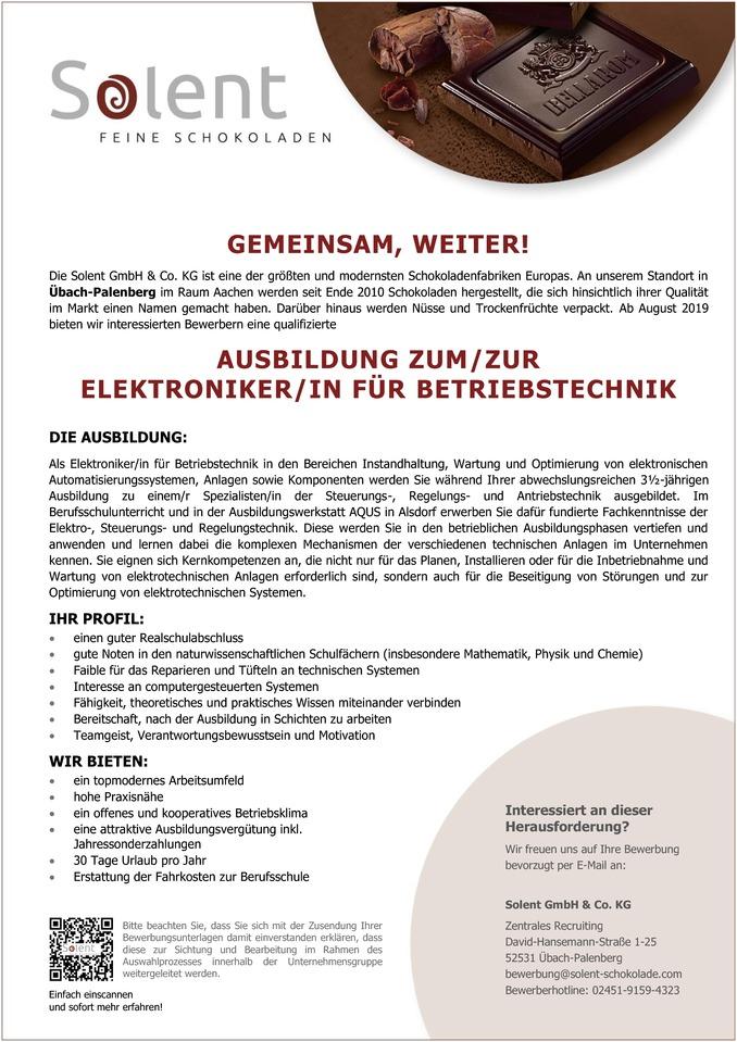 ausbildung zumzur elektronikerin fr betriebstechnik - Bewerbung Ausbildung Elektroniker