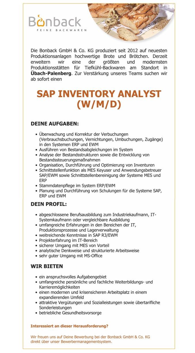 SAP Inventory Analyst (W/M/D) - Aachen Stellenangebote